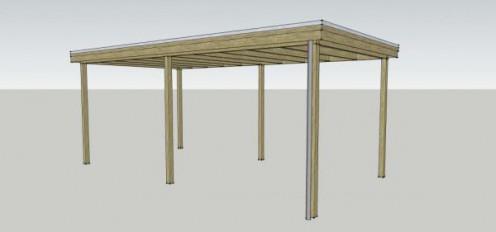 Carport standaard plat dak