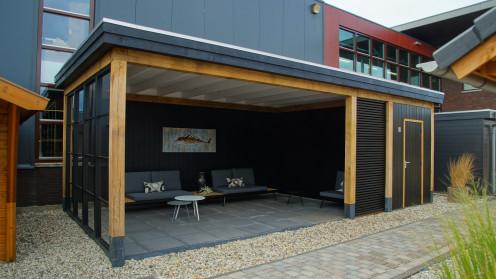 tuinhuis met plat dak j