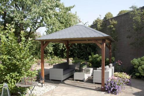 Pergola vierkant tuinhuisjescentrum van de munckhof - Voorbeeld van houten pergola ...