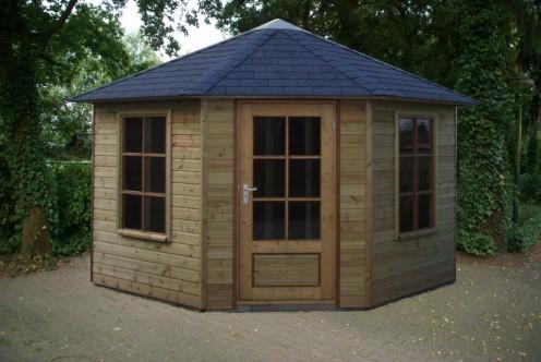 Tuinhuis 5 hoekig met vijfzijdig dak