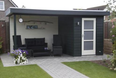 Tuinhuis met plat dak F
