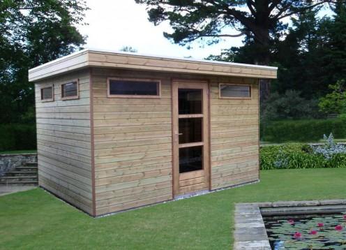 Tuinhuisje met plat dak Standaard