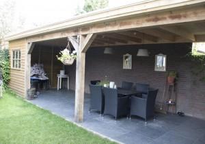 Tuin Met Overkapping : Houten overkapping tuin terrasoverkapping tuinhuisjescentrum